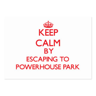 Keep calm by escaping to Powerhouse Park Californi Pack Of Chubby Business Cards