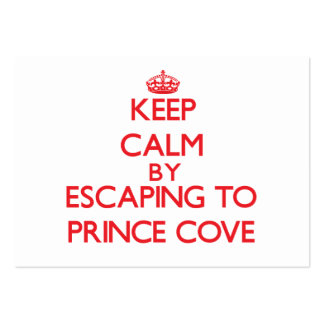 Keep calm by escaping to Prince Cove Massachusetts Business Cards