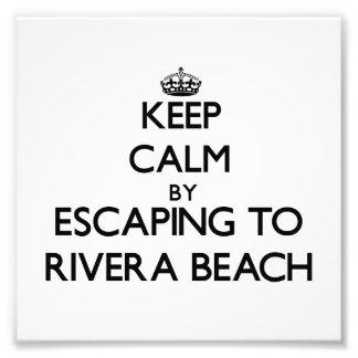 Keep calm by escaping to Rivera Beach Florida Photo Art