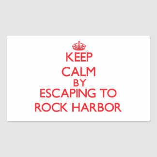 Keep calm by escaping to Rock Harbor Massachusetts Rectangle Sticker