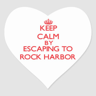 Keep calm by escaping to Rock Harbor Massachusetts Sticker