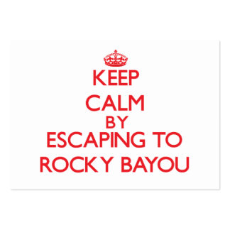 Keep calm by escaping to Rocky Bayou Florida Business Card Template