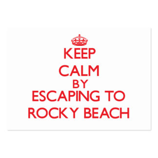 Keep calm by escaping to Rocky Beach Rhode Island Business Cards