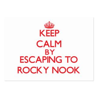Keep calm by escaping to Rocky Nook Massachusetts Business Card Template