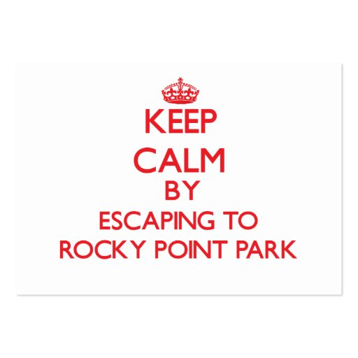 Keep calm by escaping to Rocky Point Park Maryland Business Card Template