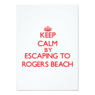Keep calm by escaping to Rogers Beach Michigan Announcement