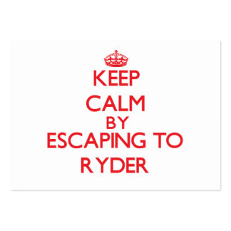 Keep calm by escaping to Ryder Massachusetts Business Cards
