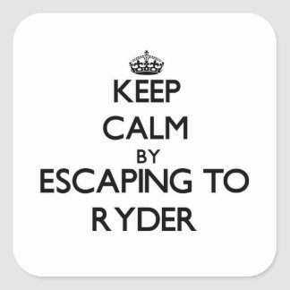 Keep calm by escaping to Ryder Massachusetts Square Sticker