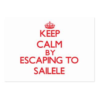 Keep calm by escaping to Sailele Samoa Business Card