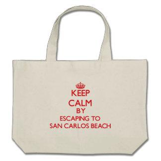 Keep calm by escaping to San Carlos Beach Californ Bags