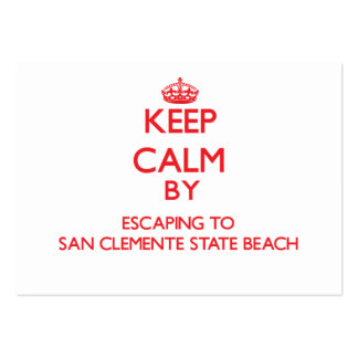 Keep calm by escaping to San Clemente State Beach Business Card