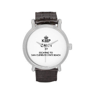Keep calm by escaping to San Clemente State Beach Wristwatch