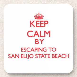 Keep calm by escaping to San Elijo State Beach Cal Beverage Coasters