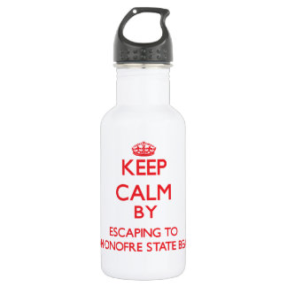 Keep calm by escaping to San Onofre State Beach Ca 532 Ml Water Bottle