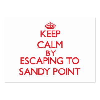 Keep calm by escaping to Sandy Point Massachusetts Business Card