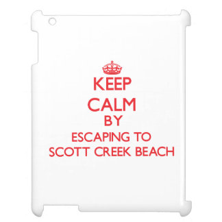 Keep calm by escaping to Scott Creek Beach Califor Cover For The iPad 2 3 4