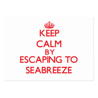 Keep calm by escaping to Seabreeze Massachusetts Business Card