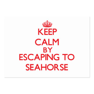 Keep calm by escaping to Seahorse Maryland Business Card Templates