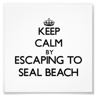 Keep calm by escaping to Seal Beach California Photographic Print