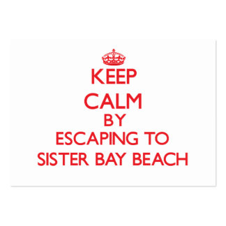 Keep calm by escaping to Sister Bay Beach Wisconsi Business Card Templates