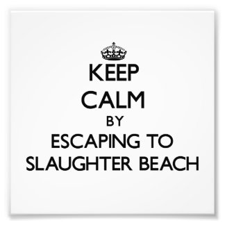 Keep calm by escaping to Slaughter Beach Delaware Photo Print