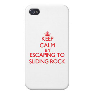 Keep calm by escaping to Sliding Rock Samoa iPhone 4 Covers