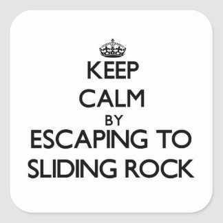 Keep calm by escaping to Sliding Rock Samoa Stickers