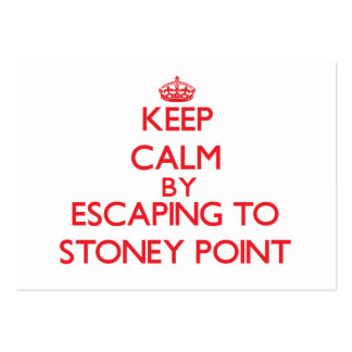 Keep calm by escaping to Stoney Point Michigan Business Cards