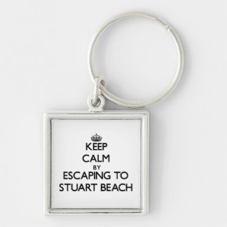 Keep calm by escaping to Stuart Beach Florida Keychain