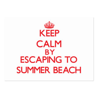 Keep calm by escaping to Summer Beach Florida Business Cards