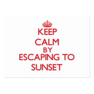 Keep calm by escaping to Sunset Massachusetts Business Card Template