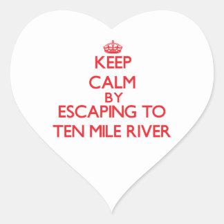 Keep calm by escaping to Ten Mile River California Heart Sticker