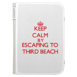 Keep calm by escaping to Third Beach Rhode Island Kindle Covers