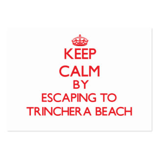 Keep calm by escaping to Trinchera Beach Guam Pack Of Chubby Business Cards