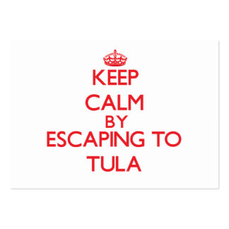Keep calm by escaping to Tula Samoa Business Card Templates