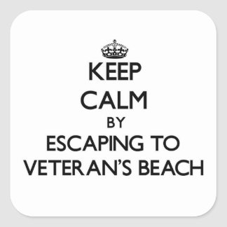 Keep calm by escaping to Veteran'S Beach Florida Stickers