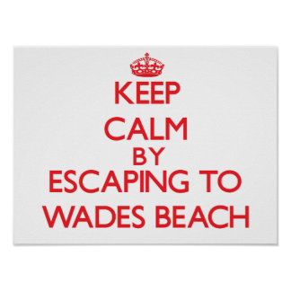 Keep calm by escaping to Wades Beach New York Posters