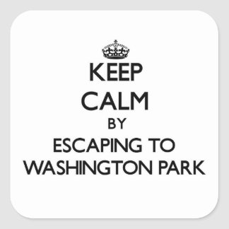 Keep calm by escaping to Washington Park Indiana Stickers