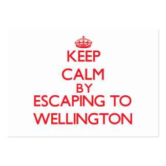 Keep calm by escaping to Wellington Maryland Business Card