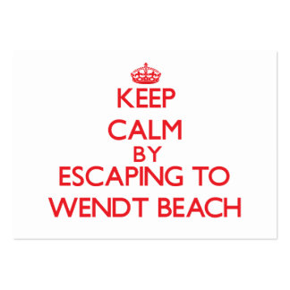 Keep calm by escaping to Wendt Beach New York Business Card