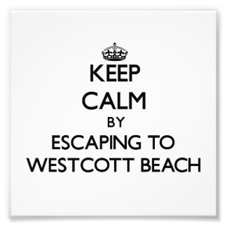 Keep calm by escaping to Westcott Beach New York Photographic Print