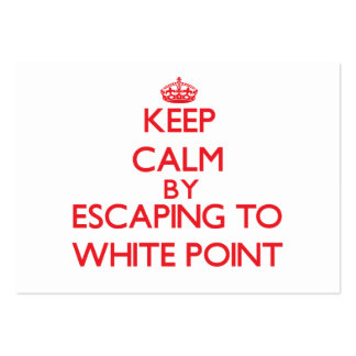 Keep calm by escaping to White Point Florida Pack Of Chubby Business Cards
