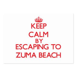 Keep calm by escaping to Zuma Beach California Business Card