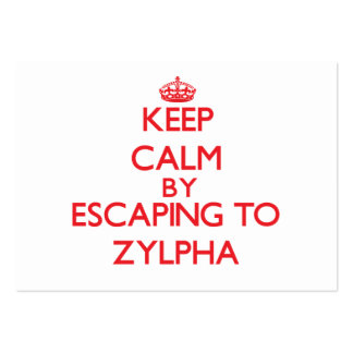 Keep calm by escaping to Zylpha Massachusetts Business Cards