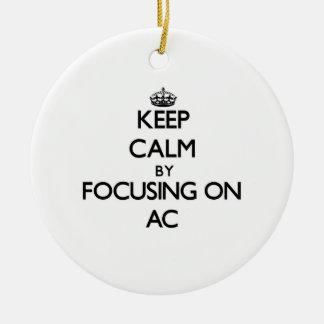 Keep Calm by focusing on AC Christmas Ornaments