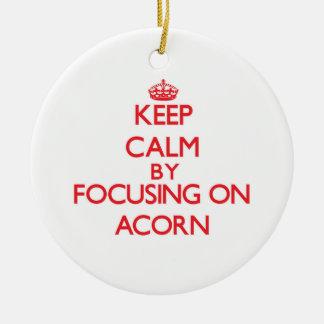 Keep Calm by focusing on Acorn Ornament