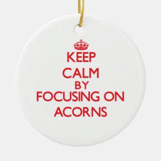 Keep Calm by focusing on Acorns Ornaments