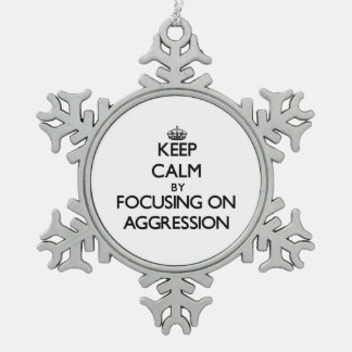 Keep Calm by focusing on Aggression Ornaments