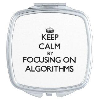 Keep Calm by focusing on Algorithms Vanity Mirror