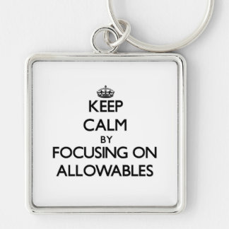 Keep Calm by focusing on Allowables Keychain